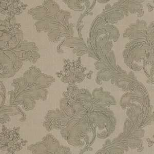 396 Inch Large Textured Floral Trail Wallpaper, Gold