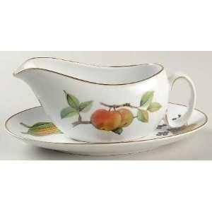 Royal Worcester Evesham Gold (Porcelain) Gravy Boat and