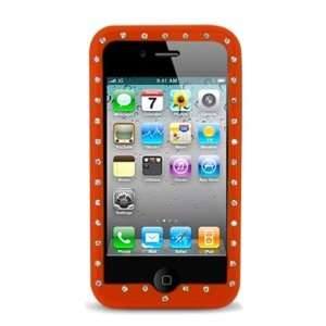 Apple Iphone 4 Diamond Skin Case, Orange Electronics