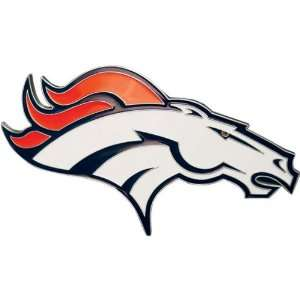 Denver Broncos NFL Pewter Logo Trailer Hitch Cover