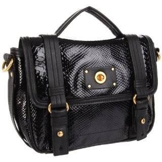Marc Jacobs Leather Werdie Crossbody Messenger Bag Satchel Purse Black