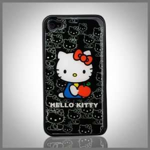 Hello Kitty Apple on Black Collage Enigma flexible TPU case cover
