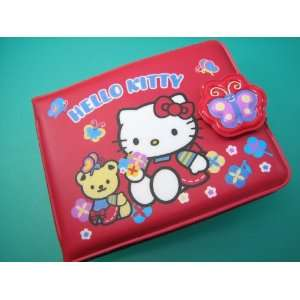 Hello Kitty with Teddy Red Vinyl Folding Id Wallet Toys & Games
