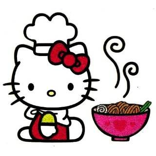 Hello Kitty noodle shop chefs hat cook Iron On Transfer for T Shirt