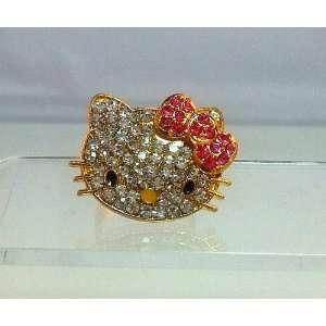 Hello Kitty Ring   Gold Tone