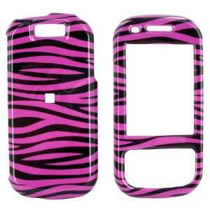 For Samsung Exclaim Hard Cover Case Hot Pink Zebra Electronics