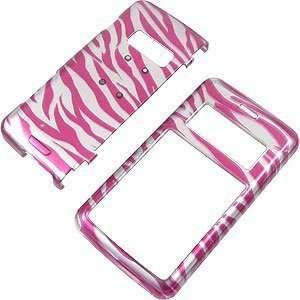 Zebra Stripes (Hot Pink/Silver) Shield Protector Case for