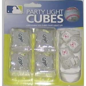 White Sox Set of 4 Light Up Ice Cubes