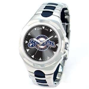 Milwaukee Brewers MLB Mens Silver  Victory Sports Watch