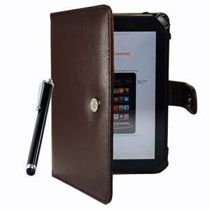 Brown Color Kindle Fire 3G WiFi PU Leather Case/Cover + Black Color