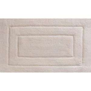 WHITE cotton BATH MAT rug bathroom home decor: Home & Kitchen