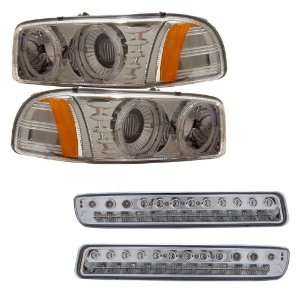 LED Halo Projector Headlights /w Amber + LED Parking Lights Combo