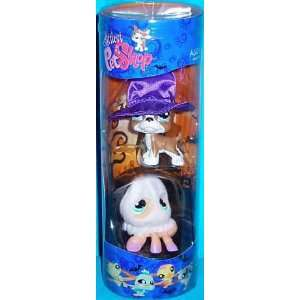 Littlest Pet Shop Exclusive 2 Pack Tube Spooky Dog and Spider  Toys