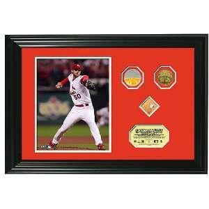 St. Louis Cardinals World Series Game 4 Rosin Bag Framed Piece