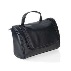 Leather Travel Bag with 3 piece Manicure set for Men, Germany Beauty