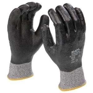 MAPA 559 Glove,HPPE,Nitrile,Black/Gray,9,Pr