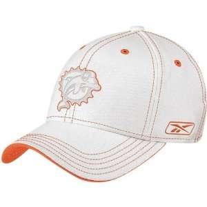 Reebok Miami Dolphins White Structured Flex Hat Sports