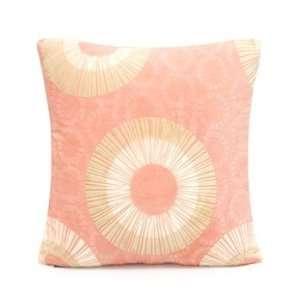 18 X 18 Peach Microfiber Throw Pillow Cover