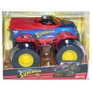Hot Wheels 2009 Monster Jam SUPERMAN Monster Truck 50/75 Toys & Games