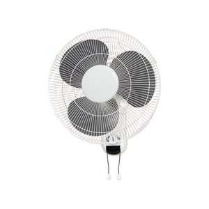 Lorell LLR49256 16in. Wall Mount Fan  6ft. Cord  9 .25in