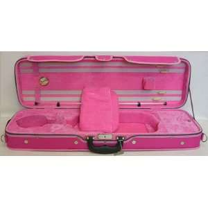 SKY Oblong Violin Case 4/4 Full Size (Pink) Musical Instruments