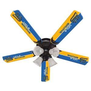 UCLA Bruins College 52 Ceiling Fan w/five blades & light kit (NEW