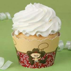 Little Cowboy   Baby Shower Cupcake Wrappers Toys & Games