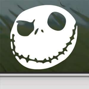 Nightmare Before Christmas White Sticker JACK SKELLINGTON