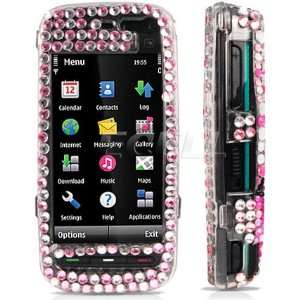 BLACK BUTTERFLY 3D CRYSTAL BLING CASE FOR NOKIA 5800 Electronics