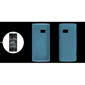 Clear Blue Soft Plastic Cover Case Shell for Nokia X6 Electronics