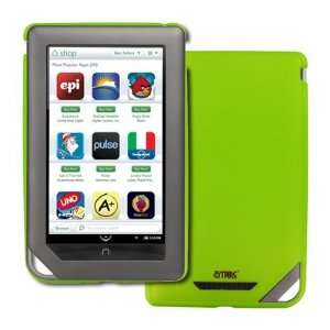 Nook Color Neon Green Stealth Rubberized Design Hard Case Cover