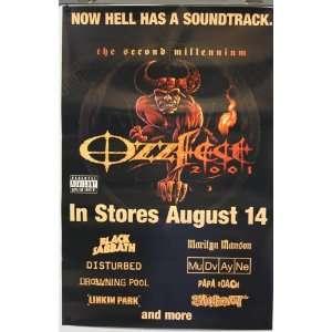 Ozzy Osbourne Ozzfest 2001 24x36 Poster