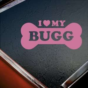 I Love My Bugg Pink Decal Car Truck Bumper Window Pink