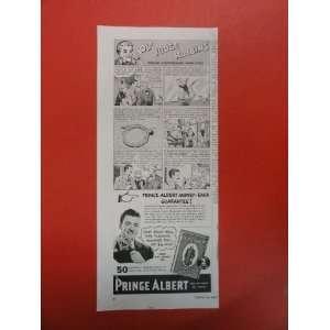 Prince Albert pipe tobacco Print Ad. Ol Judge Robbins. 1937 Vintage
