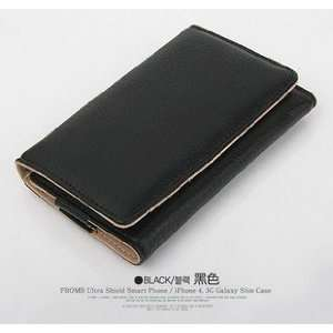 Korea Fashion PU Leather Wallet Case Cover for iPhone4/4s