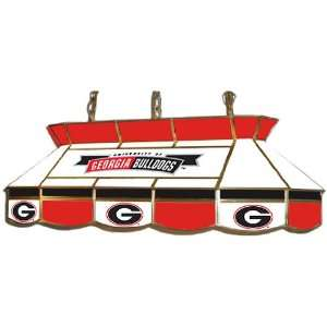 Georgia Bulldogs Stained Glass Pool Table Light