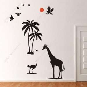 Removable vinyl art wall decals murals home decor