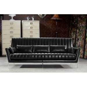 Vig Furniture 0721 3 Piece Living Room Set Black   Sofa, Loveseat