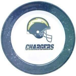 San Diego Chargers NFL Dinner Plates (4 Pack) Kitchen