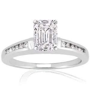1 Ct Emerald Cut Diamond Engagement Ring Set VS1 D IGI