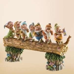 Jim Shore, Disney Traditions, Seven Dwarfs (on log)