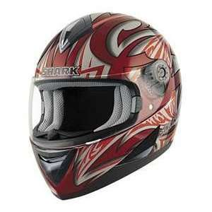 Shark S650 LINK RD_SL_RD XS MOTORCYCLE Full Face Helmet