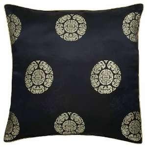 EXP Handmade Silky Black Cushion Cover / Pillow Sham