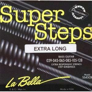 La Bella Electric Bass Super Steps 6 String Extra Long
