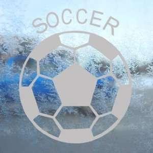 Soccer Ball Futbol Gray Decal Car Truck Window Gray