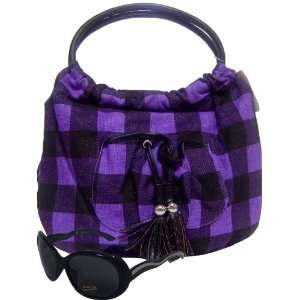 Girls Black /Purple Shoulder Bag Bonus Sunglasses Toys & Games