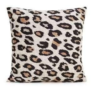 16 x 16 Brown Leopard Microfiber Throw Pillow Cover