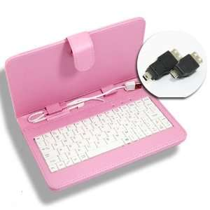 Aftermarket Product] Universal Pink Protective Faux Leather Case+USB