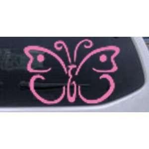 Butterfly 3 Butterflies Car Window Wall Laptop Decal Sticker    Pink