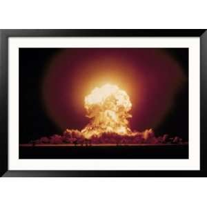 Atomic Explosion with Mushroom Cloud Collections Framed